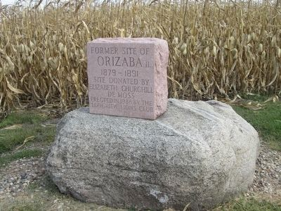 Former Site of Orizaba IL Marker image. Click for full size.