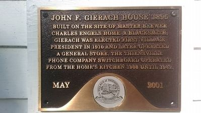 John F. Gierach House Marker image. Click for full size.