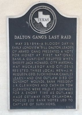 Dalton Gang Bank Robbery marker image. Click for full size.
