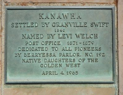 Kanawha Marker image. Click for full size.