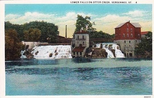 <i>Lower Falls on Otter Creek, Vergennes, Vt.</i> image. Click for full size.