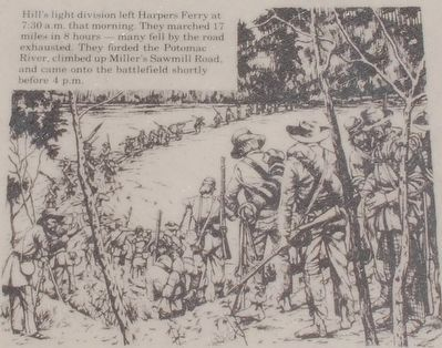Hill's Ligh Division Crossing the Potomac River in Route to Sharpsburg image. Click for full size.
