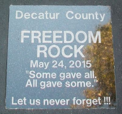 Decatur County Freedom Rock Marker image. Click for full size.