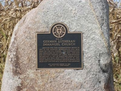 Site of German Lutheran Immanuel Church Marker image. Click for full size.
