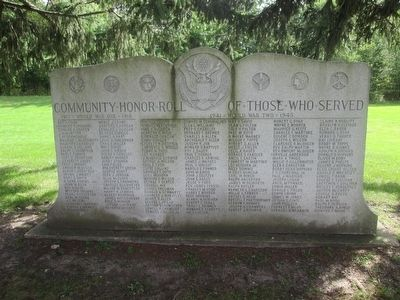 Community Honor Roll of Those Who Served Marker image. Click for full size.