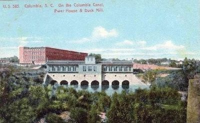 <i>Columbia, S.C. On the Columbia Canal, Pwer House and Duck Mill</i> image. Click for full size.