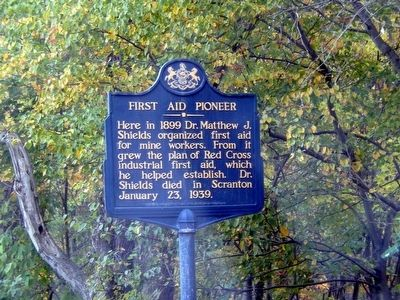 First Aid Pioneer Marker image. Click for full size.