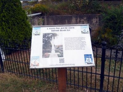 Gravity Park and the Gravity Railroad Historic Site Marker image. Click for full size.