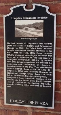 Longview Expands Its Influence Marker image. Click for full size.