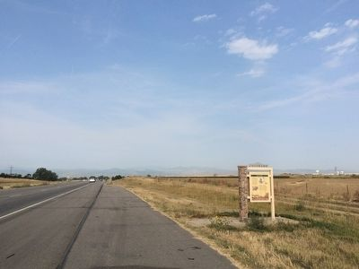 Area view of marker looking west towards Loveland. image. Click for full size.