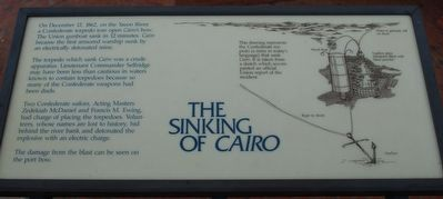 The Sinking of Cairo Marker image. Click for full size.