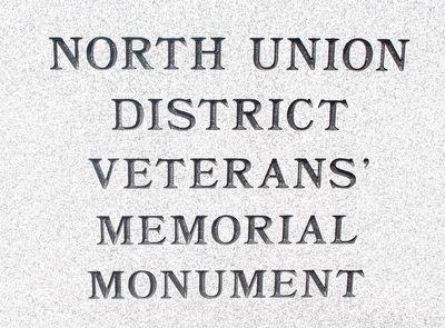 North Union District Veterans Memorial Marker image. Click for full size.