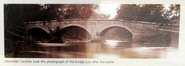 The Burnside Bridge Marker<br>Photo of the Bridge Shortly After the Battle image. Click for full size.