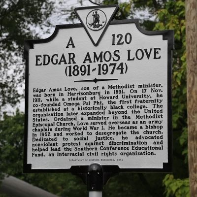Edgar Amos Love Marker image. Click for full size.