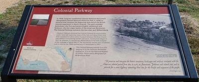Colonial Parkway Marker image. Click for full size.