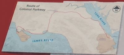Colonial Parkway Marker Map image. Click for full size.
