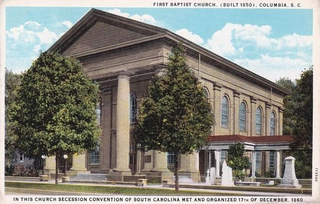 <i>First Baptist Church, (Built 1850), Charleston, S.C.</i> image. Click for full size.