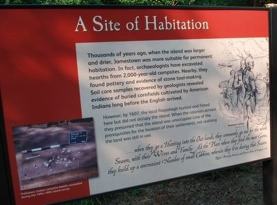 A Site of Habitation Marker image. Click for full size.