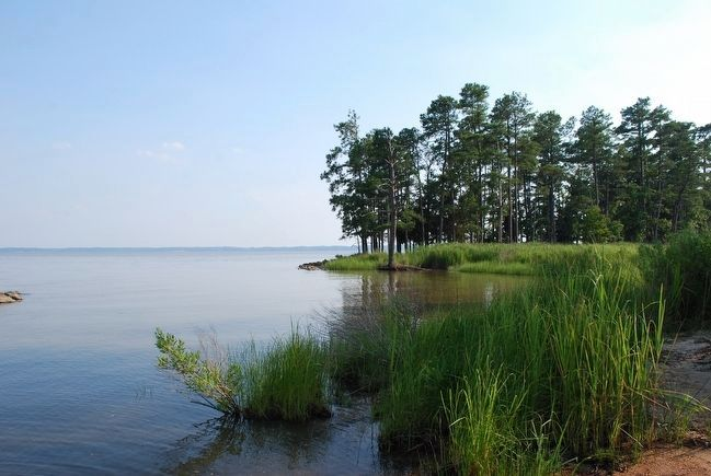 View of the James River from Black Point (Jamestown Island) image. Click for full size.