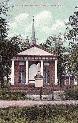 <i>De Kalb Monument and Church, Camden, S.C.</i> image. Click for full size.