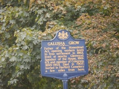 Galusha Grow Marker image. Click for full size.