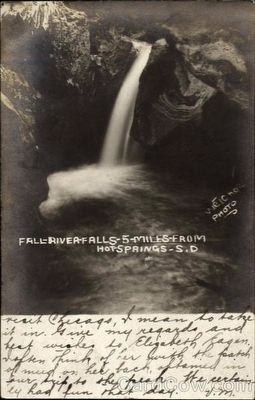 Fall River Falls, 5 miles from Hot Springs, S.D. image. Click for full size.