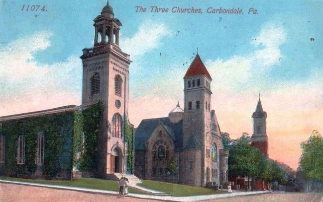 <i>The Three Churches, Carbondale, Pa.</i> image. Click for full size.