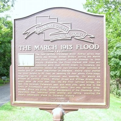 The March 1913 Flood Marker image. Click for full size.