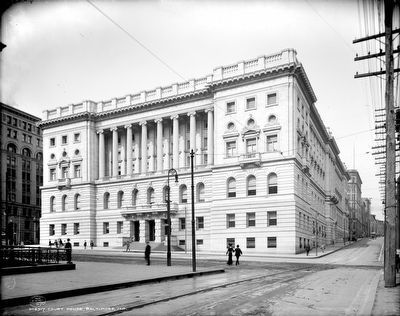 The Third Baltimore City Courthouse c. 1903 image. Click for full size.