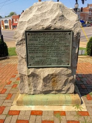 Henderson County Revolutionary War Memorial -1932 image. Click for full size.