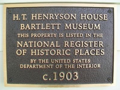 H. T. Henryson House NRHP Marker image. Click for full size.