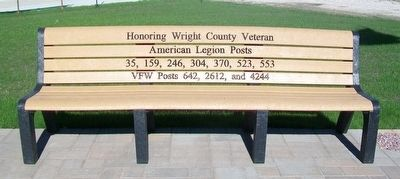 Dows Freedom Rock Veterans Memorial Bench image. Click for full size.