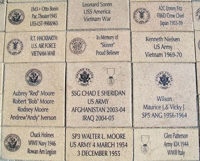 Dows Freedom Rock Veterans Memorial Pavers image. Click for full size.