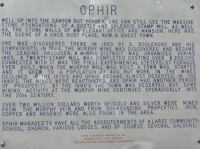 Ophir Marker image. Click for full size.