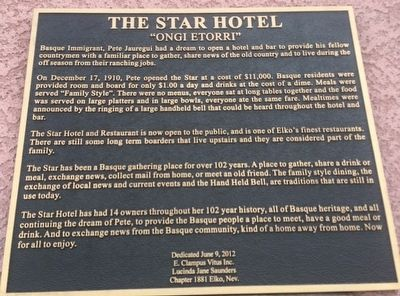 The Star Hotel Marker image. Click for full size.