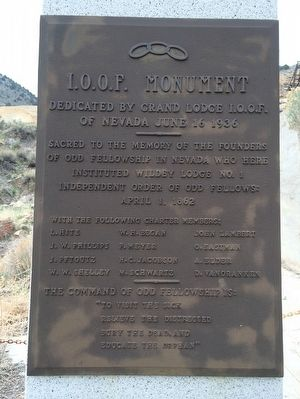 I.O.O.F. Monument Marker image. Click for full size.
