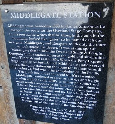 Middlegate Station Marker image. Click for full size.