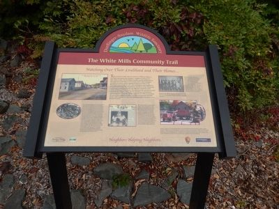 The White Mills Community Trail Marker image. Click for full size.