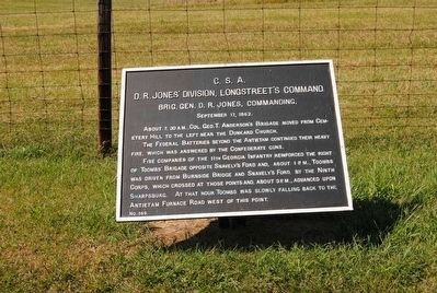 D.R. Jones' Division, Longstreet's Command Marker #1 image. Click for full size.