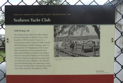Seafarers Yacht Club Marker image. Click for full size.