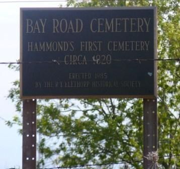 Bay Road Cemetery Marker image. Click for full size.