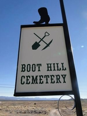 Boot Hill Cemetery Sign image. Click for full size.