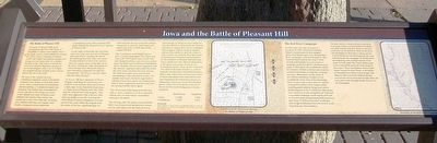 Iowa and the Battle of Pleasant Hill Marker image. Click for full size.