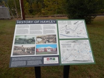 History of Hawley Marker image. Click for full size.