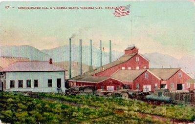 <i>Consolidated Cal. & Virginia Shaft, Virginia City, Nevada </i> image. Click for full size.