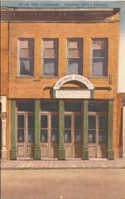 <i>An Old Landmark, Virginia City, Nevada</i> <br>The Territorial Enterprise Building image. Click for full size.