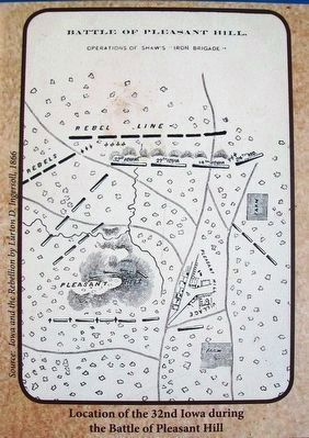 Map of the Battle of Pleasant Hill on Marker image. Click for full size.