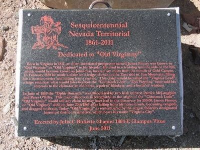 "Dedicated to ""Old Virginny"" Marker image. Click for full size."