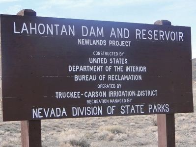 Lahontan Dam Sign image. Click for full size.
