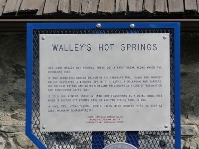 Walley's Hot Springs Marker image. Click for full size.